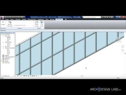Placing Doors in a Curtain Wall