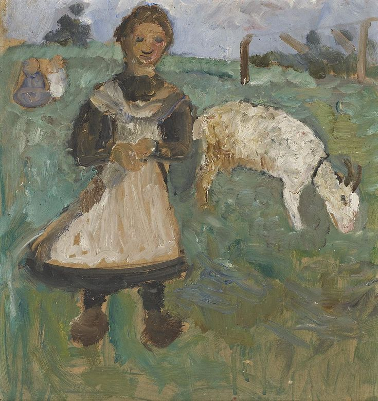 paula modersohn-becker(1876-1907), girl with goat, c. 1902. private collection http://www.the-athenaeum.org/art/detail.php?ID=94542