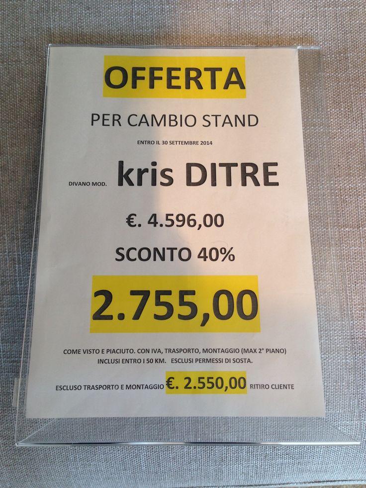 """PROMOZIONI AUTUNNO 2014 Presso il nostro punto vendita Veneta Cucine San Donato Mil.se - Divano letto """"Best"""" Samoa: € 1.090,00 anziché € 1.990,00 - Divano letto """"Kris"""" Ditre: € 2.755,00 anziché € 4.596,00 T. 393 0094670 Email: venetacucine@artabita.it http://venetacucine.artabita.it/"""
