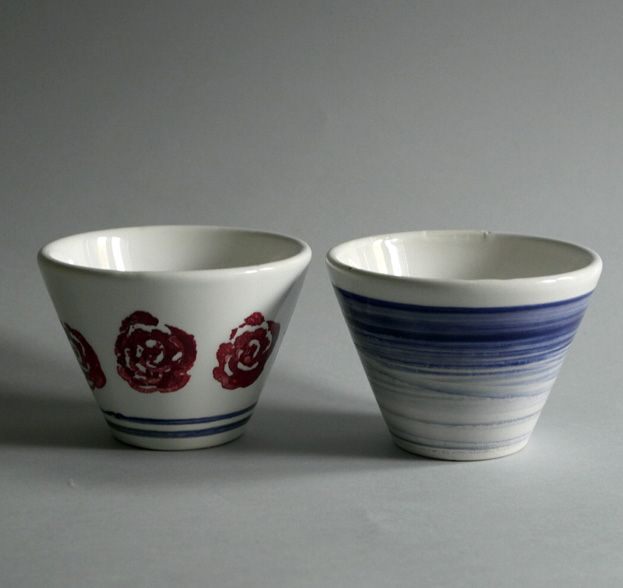 Rose vintage & blue by Riganelli&Siebezzi #ceramic #cup
