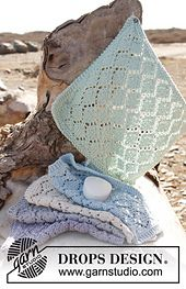 Ravelry: 147-26 Joy - Cloth with lace pattern in Paris pattern by DROPS design