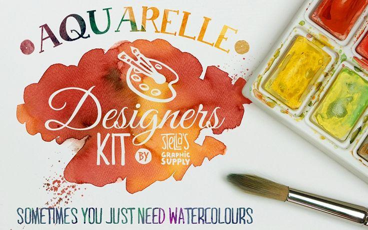 Aquarelle Designers Kit Mini http://www.templatemonster.com/blog/watercolor-freebies/