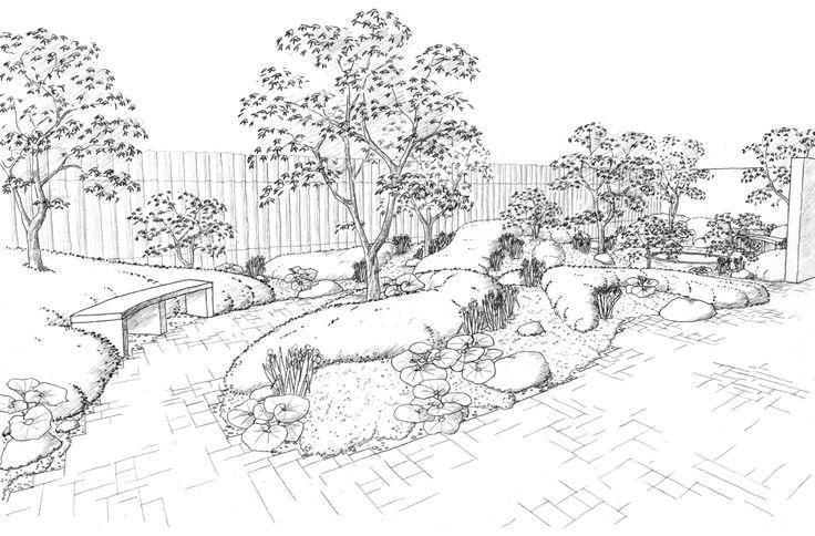 Line Drawing Landscape : Landscape drawings drawing pinterest