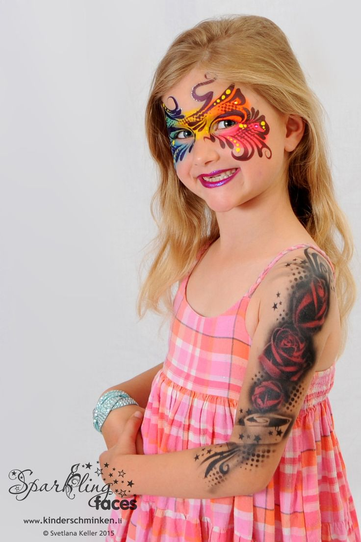 17 best favourite face paints images on pinterest face for Airbrush tattoo paint