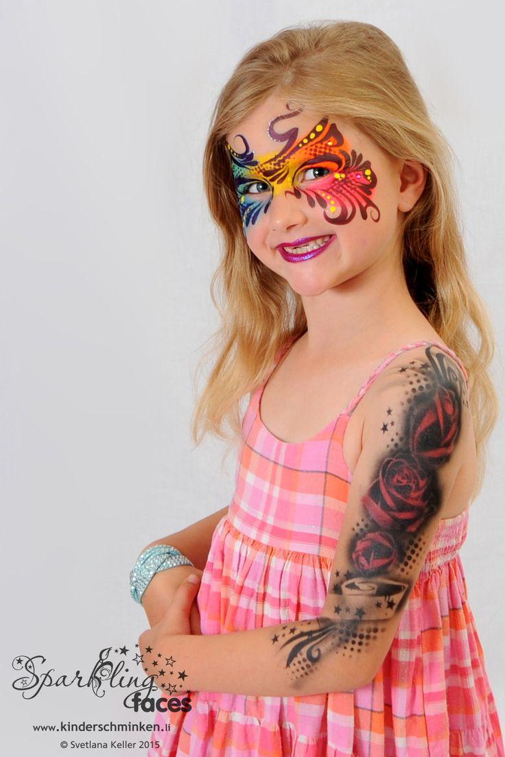 *Airbrush- Tattoos - Sparkling Faces. Kinderschminken. Farbenverkauf. Kurse.