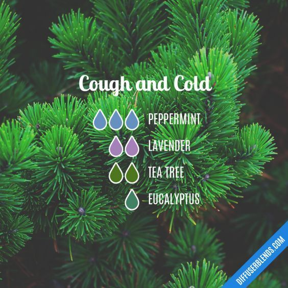 Cough and Cold - Essential Oil Diffuser Blend #Essentialoildiffusers