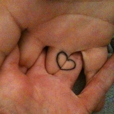 Couples Tattoo - very cute  http://goo.gl/qwHAPB