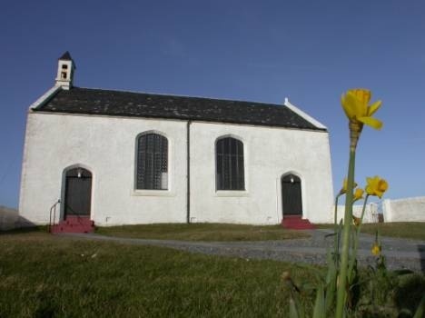 Isle of Islay - Portnahaven Church built to a design by Thomas telford