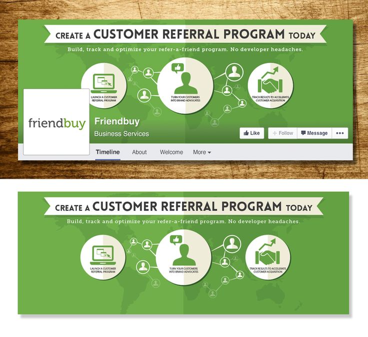 Facebook cover for Customer Referral Platform / Ecommerce B2B SaaS by Shejal