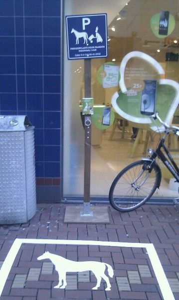 horse parking space for Sinterklaas