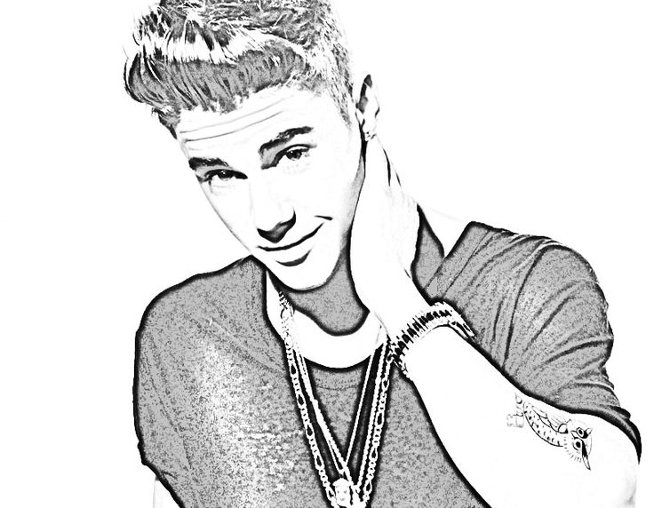 best of justin bieber coloring pages
