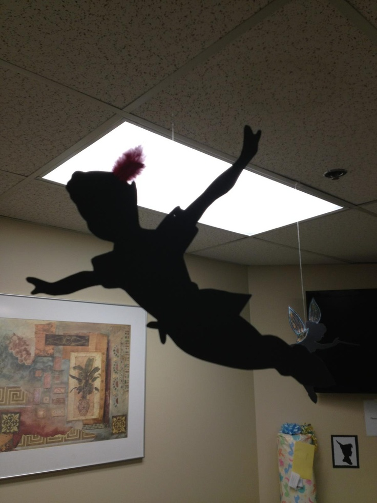 Peter Pan Shadow Cutout Peter Pan Baby Shower