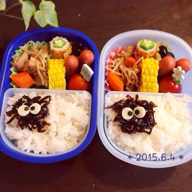 とにかく簡単キャラ弁♡まっくろくろすけ by ☆maiつん☆ http://cookpad.com/recipe/3235859#share_other