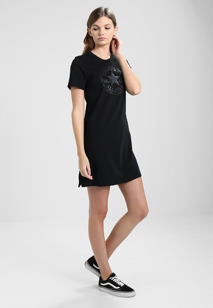 Converse CORE TEE DRESS  - Jersey dress - black for £30.99 (05/03/18) with free delivery at Zalando