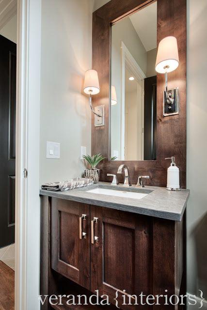 Watermark {Spyglass} Powder Room // Veranda Estate Homes & Interiors