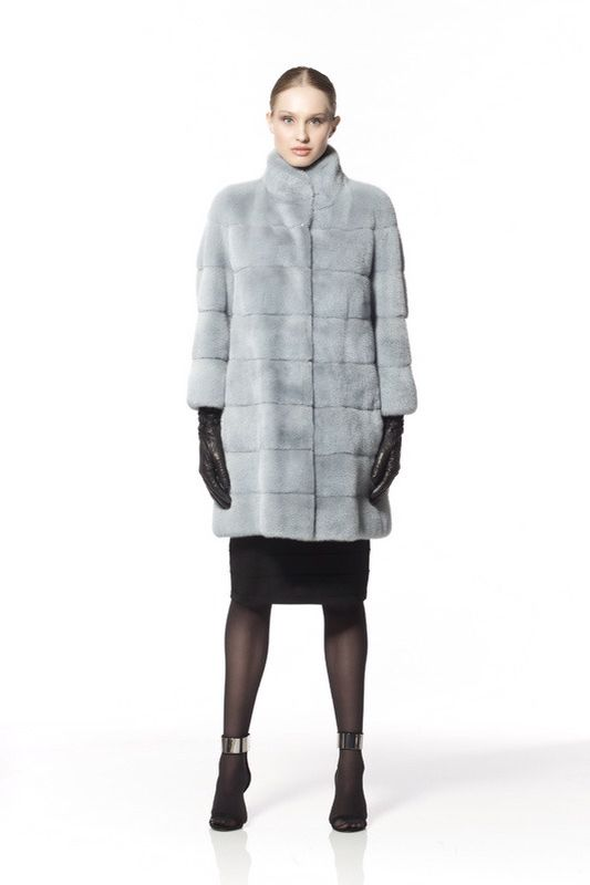 Braschi Dyed Mink Fur Coat