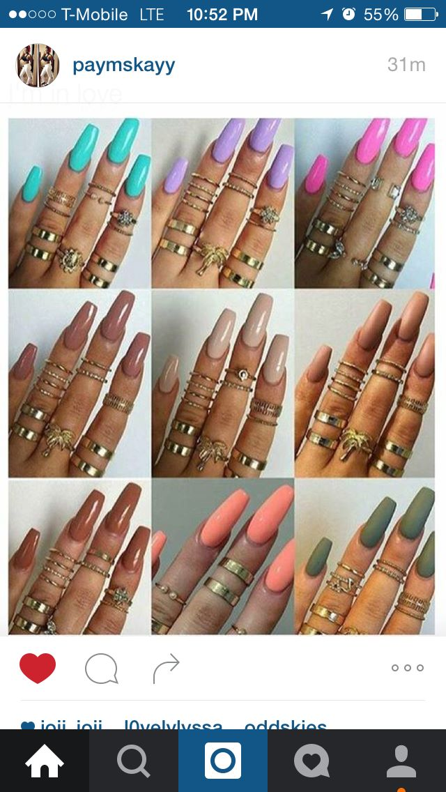 Nail Colors Acrylic Nails Italia Beauty Tips Ocd Big Rings Beautiful Natural Hair Eyeliner