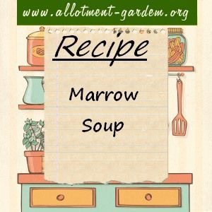 Recipe for Marrow Soup. The marrow makes the soup quite creamy but you can swirl…