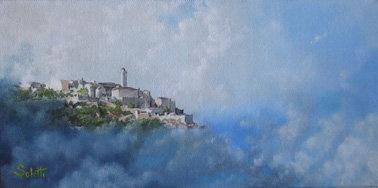 Citadelle Bastia  Huile sur toile