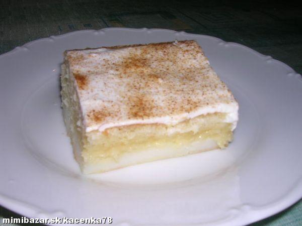 Pudingovo smotanový koláč pre našu rodinu najlepší koláč na svete