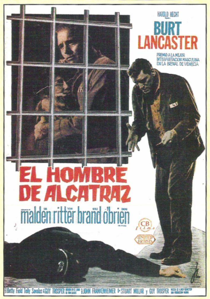 El Hombre De Alcatraz 1962 Birdman Of Alcatraz De John