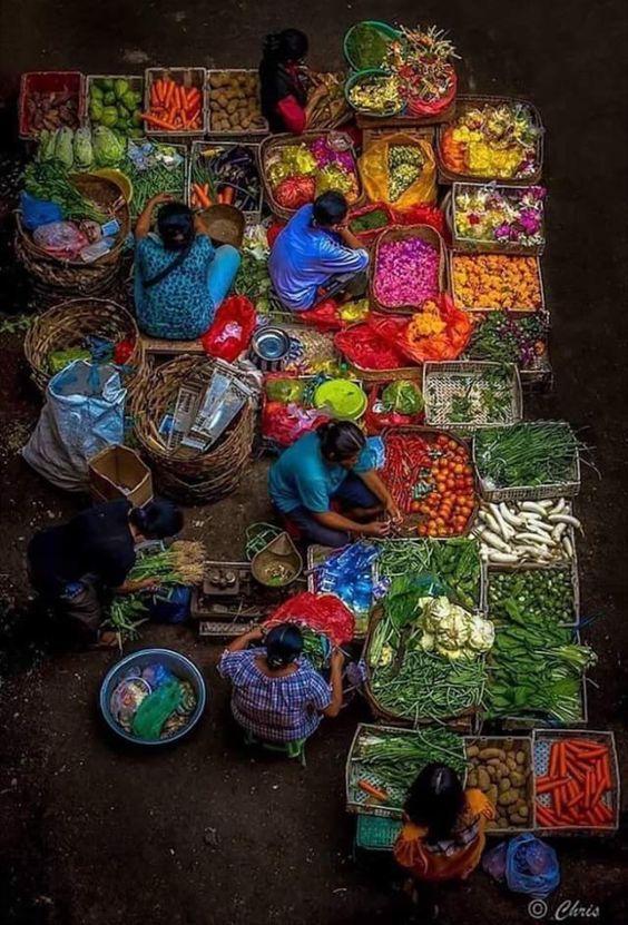 Lok Baintan Floating Market in Indonesia