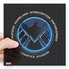 "MAOS Dark Shield Square Sticker 3"" x 3"""