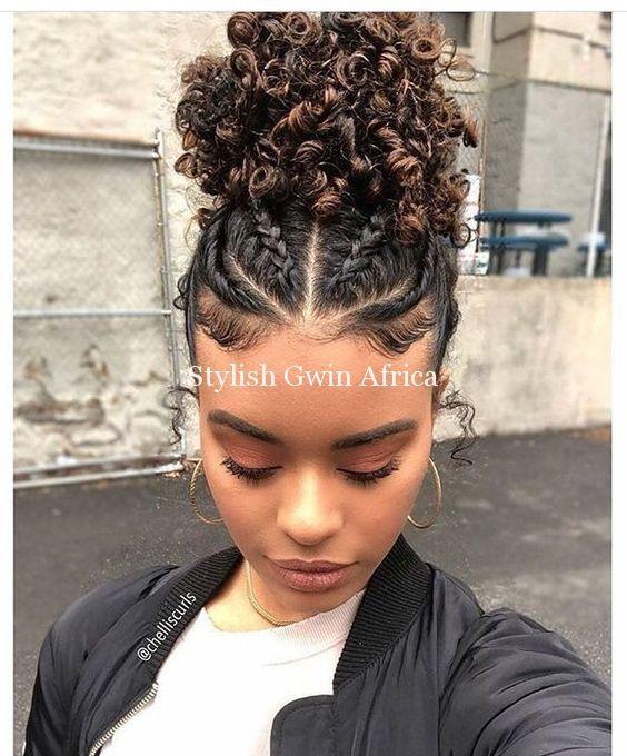 #blackcurlyhairstyles #einfache #frauen #frisuren …