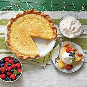 Classic Southern Buttermilk Pie | MyRecipes.com Buttermilk Pie is similar to Chess Pie, but not nearly so sweet so I like Buttermilk Pie better!