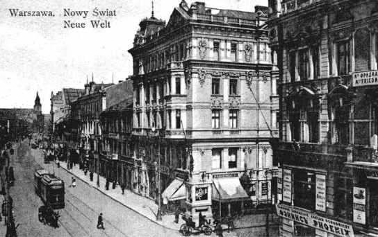 Warszawa Przedwojenna.Narożnik ulicy Foksal i Nowy Świat.