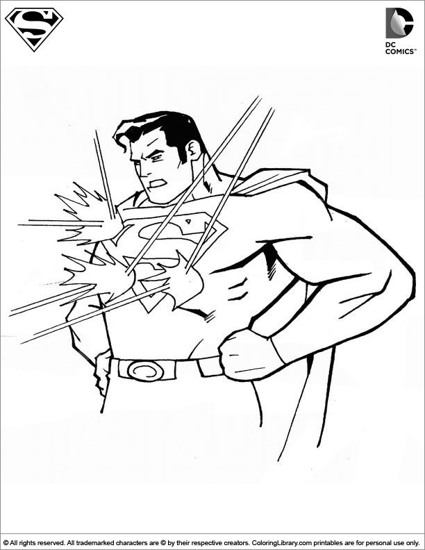 superman coloring picture - Superman Coloring Pages Kids