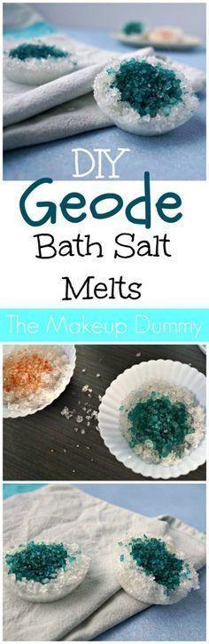 These look so Beautiful! DIY GEODE Bath Salt Melts with Epsom salt.