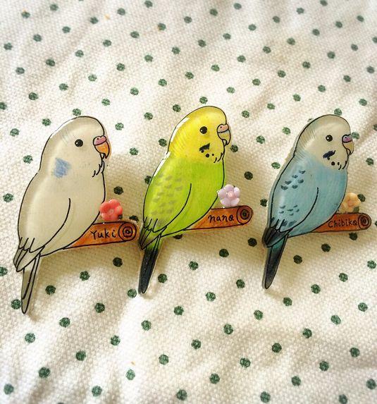 《受注製作》小鳥のブローチ
