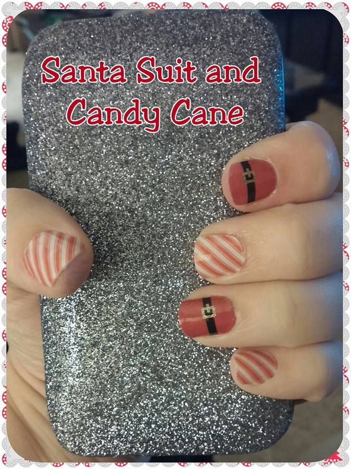 Candy Cane and Santa Suit!  Love this look together.  What do you think?