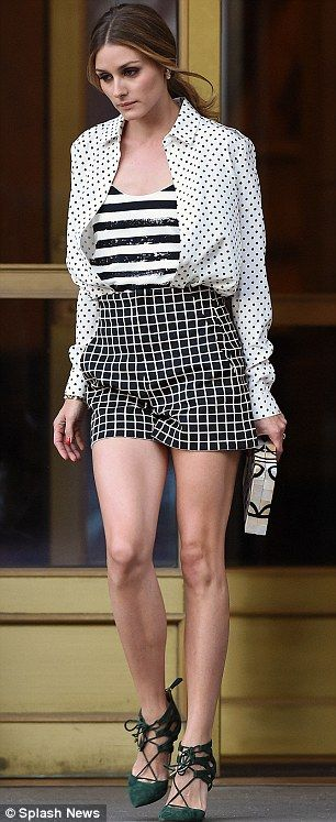 Skirting the issue: She made sure she showed off her terrifically toned legs with an admirably high hemline