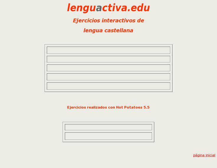 Ejercicios interactivos de lengua castellana, snapped on Snapito!