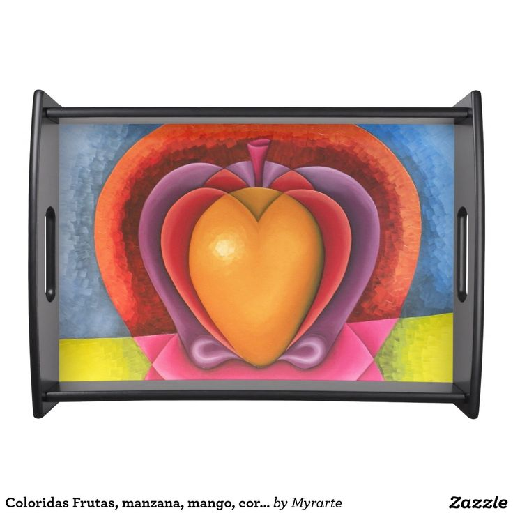 Coloridas Frutas, manzana, mango, corazón. Producto disponible en tienda Zazzle. Decoración para el hogar. Product available in Zazzle store. Home decoration. Regalos, Gifts. Link to product: http://www.zazzle.com/coloridas_frutas_manzana_mango_corazon_serving_tray-256874603426711704?CMPN=shareicon&lang=en&social=true&rf=238167879144476949 #Bandejas #Serving #Trays