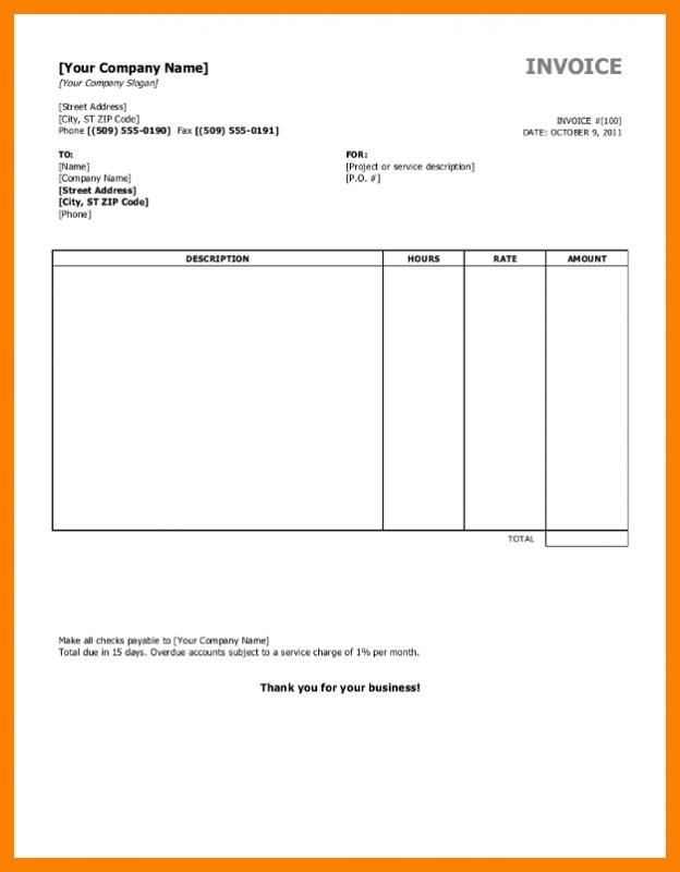 Free Printable Blank Invoice Templates Invoice Template