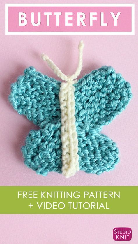 Butterfly Knitting Pattern With Easy Free Pattern Video Animals