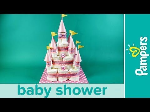 How to Make a Princess Castle Diaper Cake