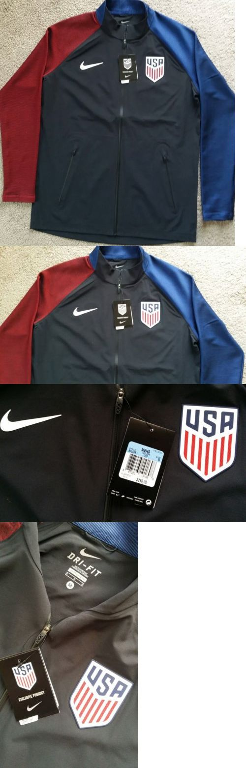 Soccer-National Teams 2891: Authentic Nike Usa Soccer Team Full-Zip Jacket Men S Sz M Nwt Msrp $260 Rare -> BUY IT NOW ONLY: $159.99 on eBay!