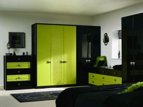 Black And Lime Green Bedding Bedroom 2017 500x375