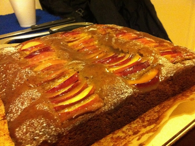 Toffee Apple tray bake for Bonfire Night