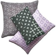 Modern cushions in mixed patterns designed by Nendo for BoConcept