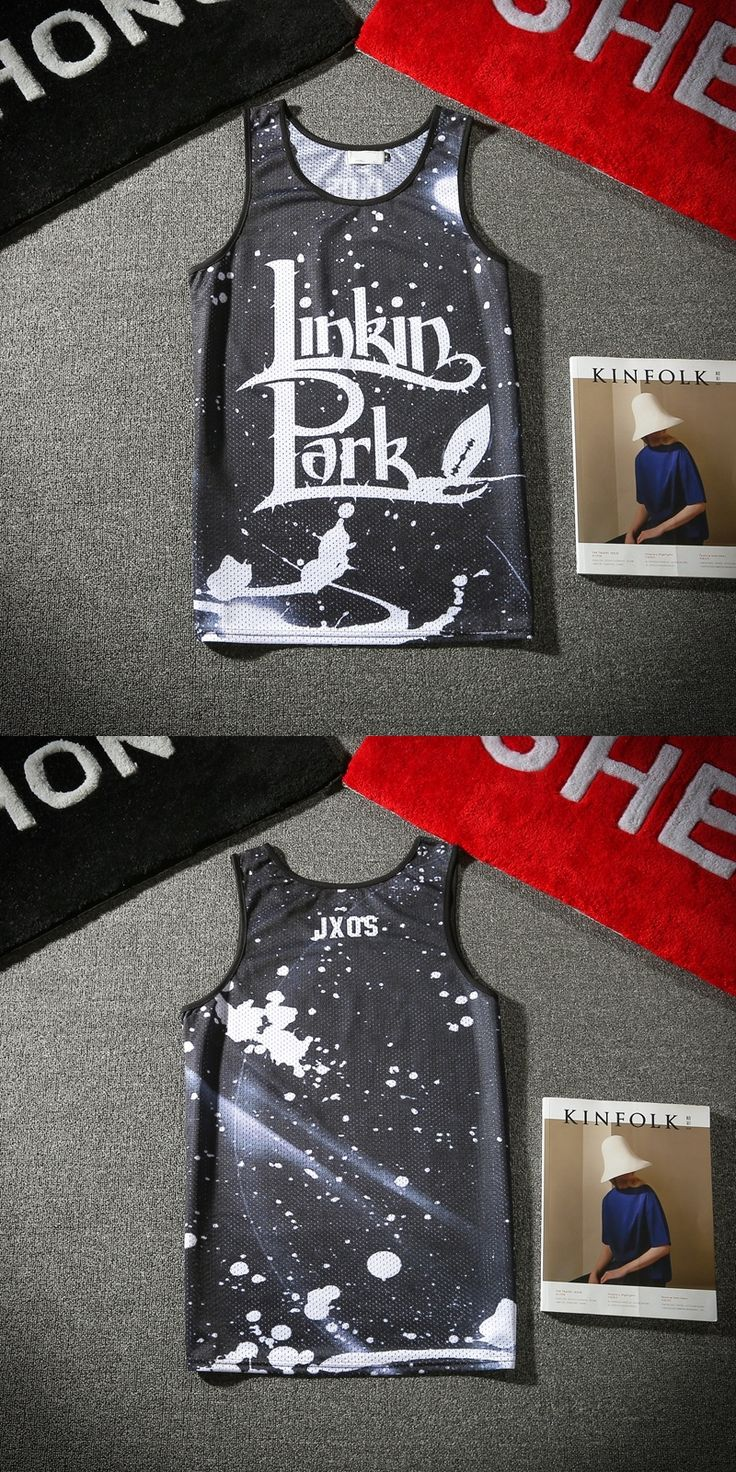 New Summer Men 3D Tank Tops Sleeveless Tee Shirt Print Linkin Park Fashion Hip Hop Vest Streetwear Brand Clothing