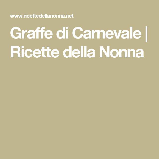 Graffe di Carnevale | Ricette della Nonna