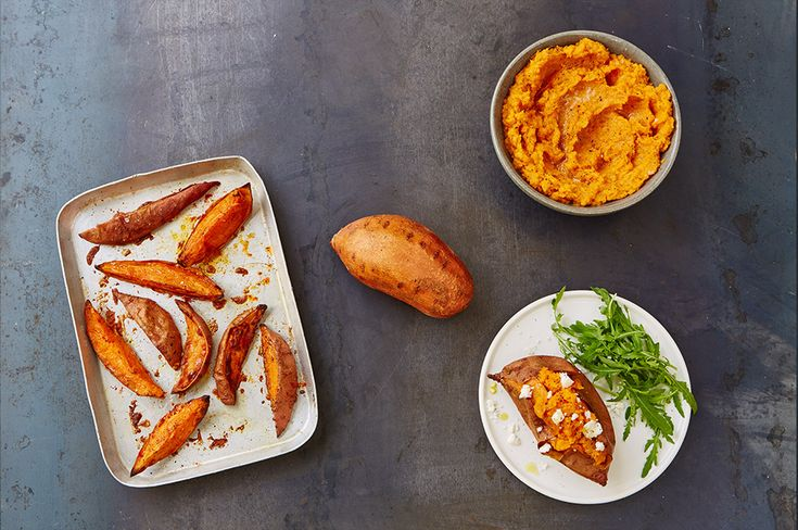 Unlike potatoes, healthy sweet potatoes count towards our five-a-day, and are a source of four essential micronutrients.