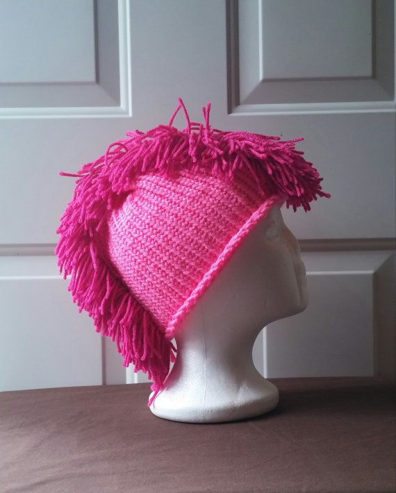 CUSTOM ORDER (KM) -  Loom Knit Beanie Loom Knit Winter Beanie Loom Knit Winter Hat Rooster Hat (6 Mediums - Pink on Pink) by LoomKnittedHats #etsy #etsyseller #loomknittedhats #shopping #acrylicyarn #cottonyarn