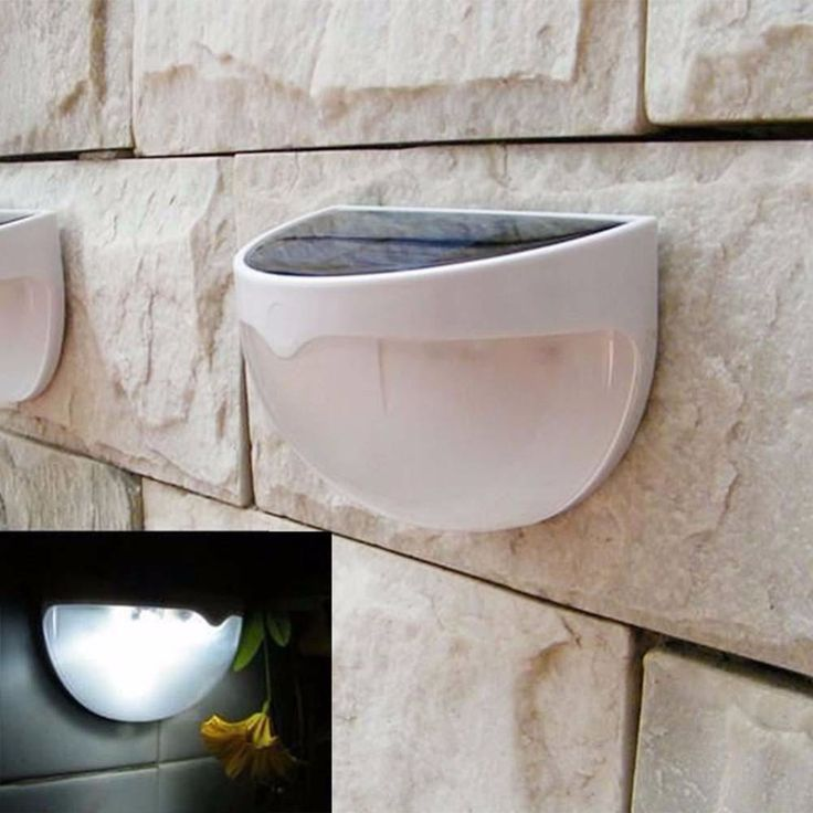 Led Surya Cahaya Luar Tahan Air Dekorasi Taman Lanskap Rumput Solar Power Panel 6 LED Pagar Talang Dinding Solar Power Lampu