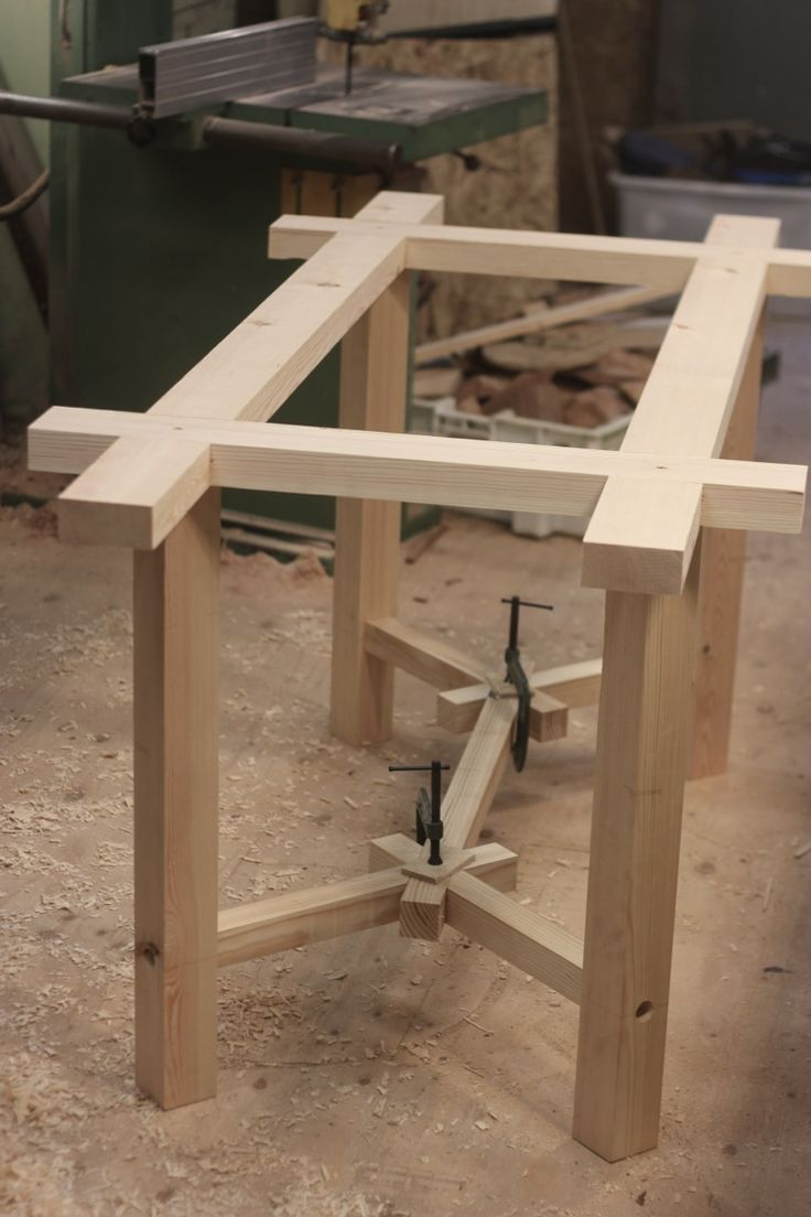 """""""Working on a double dining table and accompanying benches commission for a local home at the moment. A design we haven't done before, so we have decided to prototype it in joinery first. Its a joint..."""